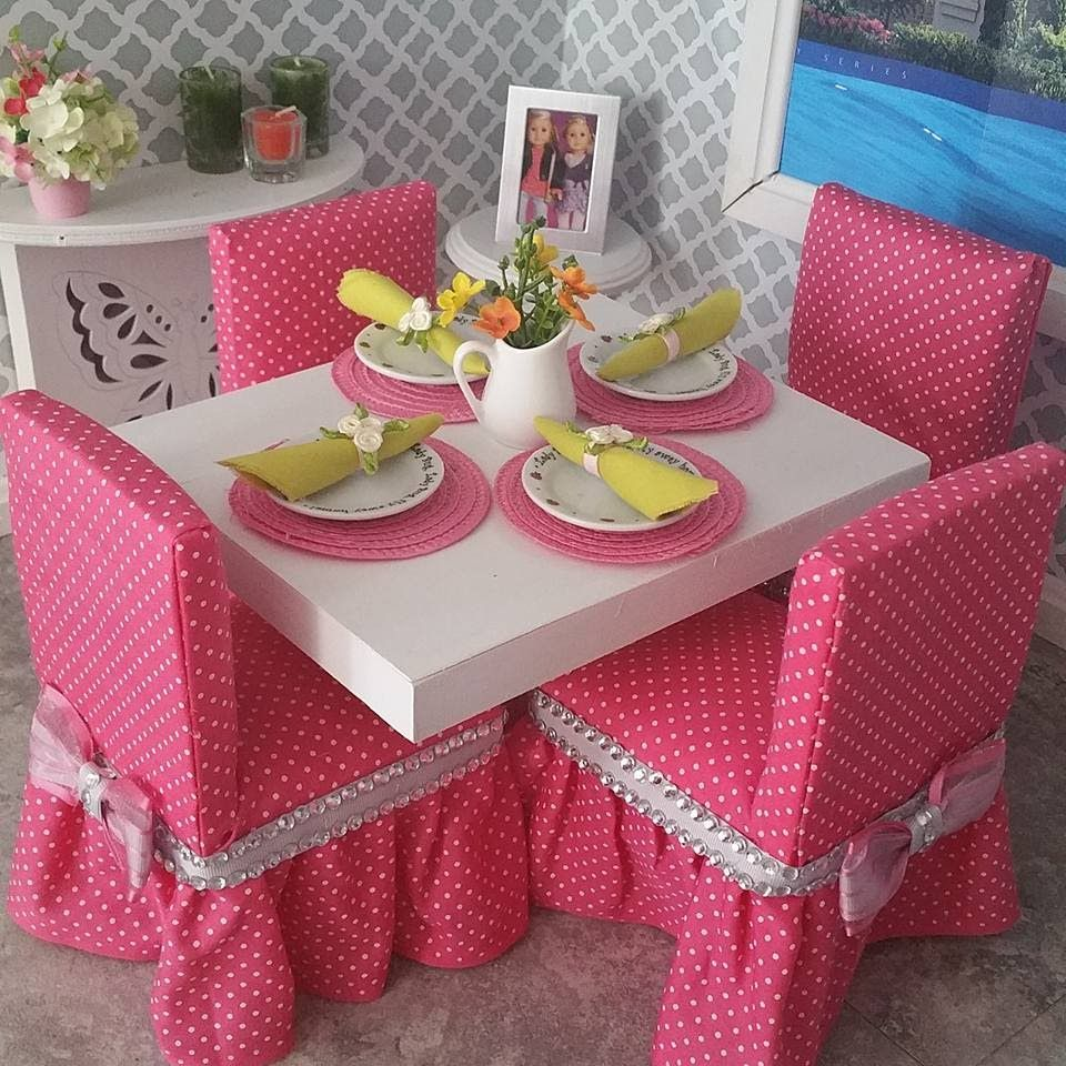 DIY Dining Chairs for American Girl Dolls #americandolls