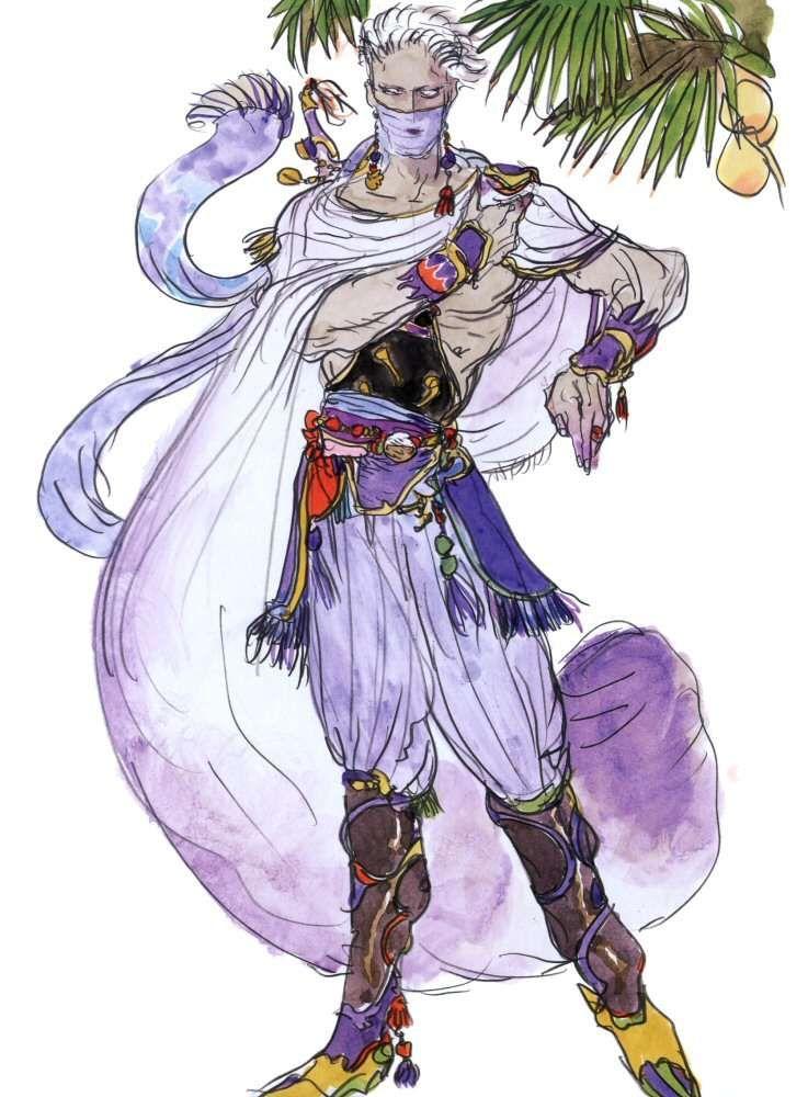 Yoshitaka Amano Edge Geraldine Final Fantasy Iv Final Fantasy Artwork Final Fantasy Art Final Fantasy Iv