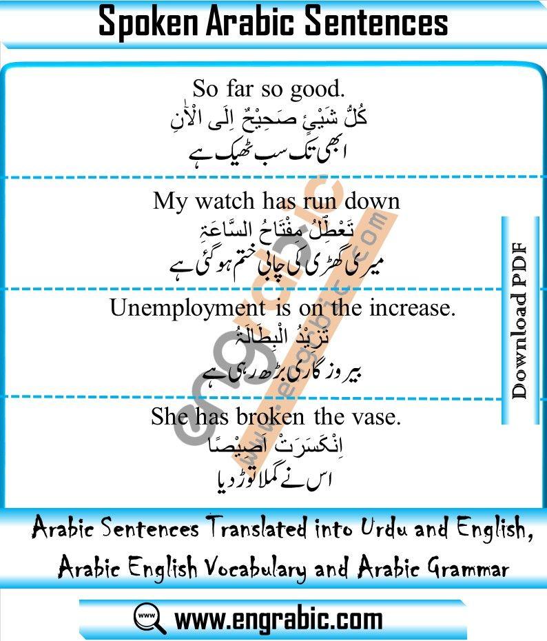Arabic To English Translation Arabic To English Translation English Vocabulary Words Arabic Sentences