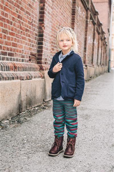 1509: Design 5a Bukse med stripemønster #strikk #knit #ull #wool #SandnesGarn