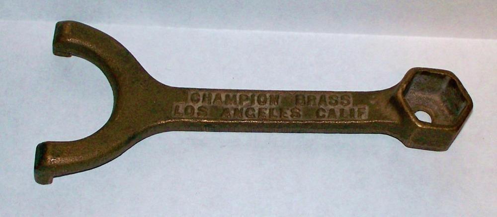 Details about Vintage Champion Brass Sprinkler Head Tool