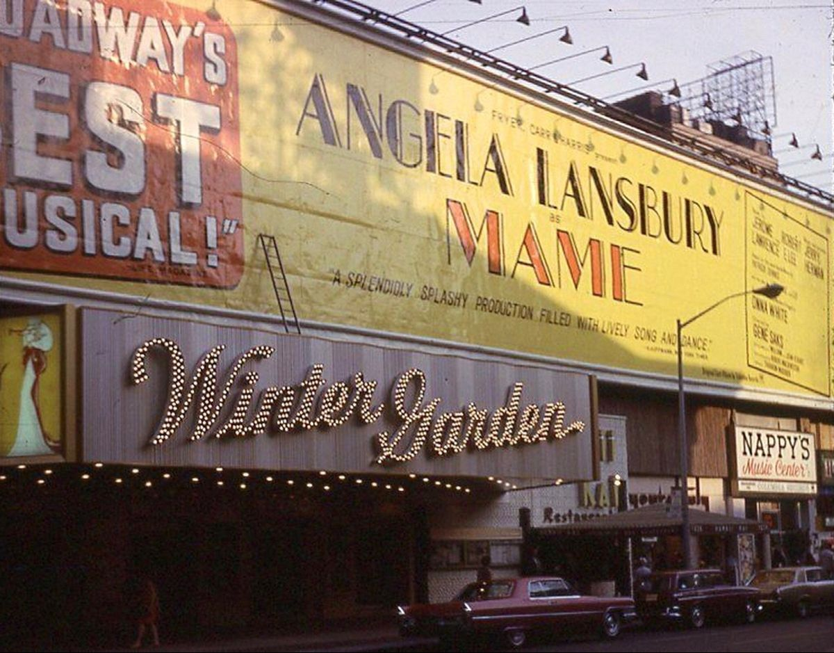 Broadway marquee winter garden theatre broadway nyc