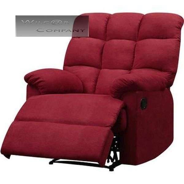 New Red Microfiber Recliner Wall Hugger Lazy Chair Furniture Living Room Arm Furniture Chair Living Room Furniture Furniture