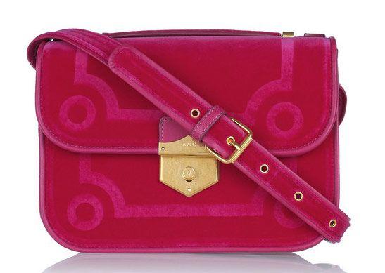 Alexander McQueen Wicca Velvet-Covered Leather Shoulder Bag