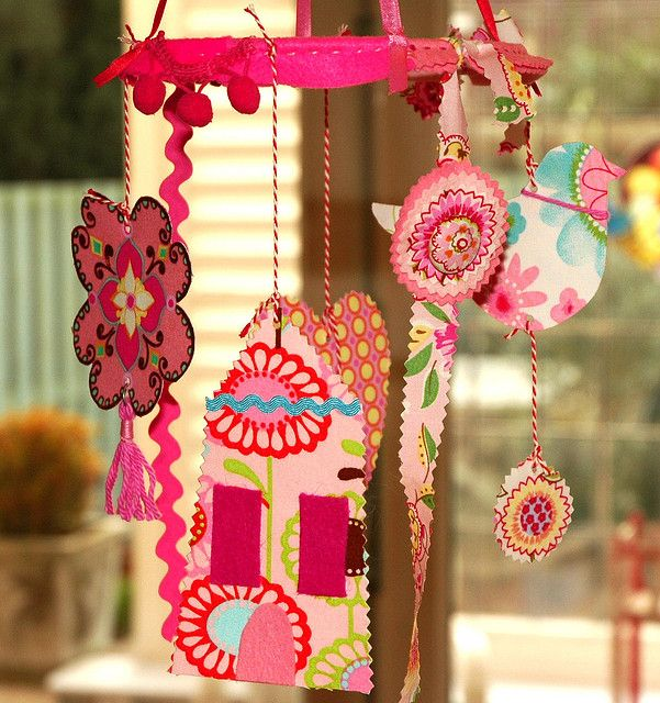Pink mobile3 by Holland Fabric House, via Flickr