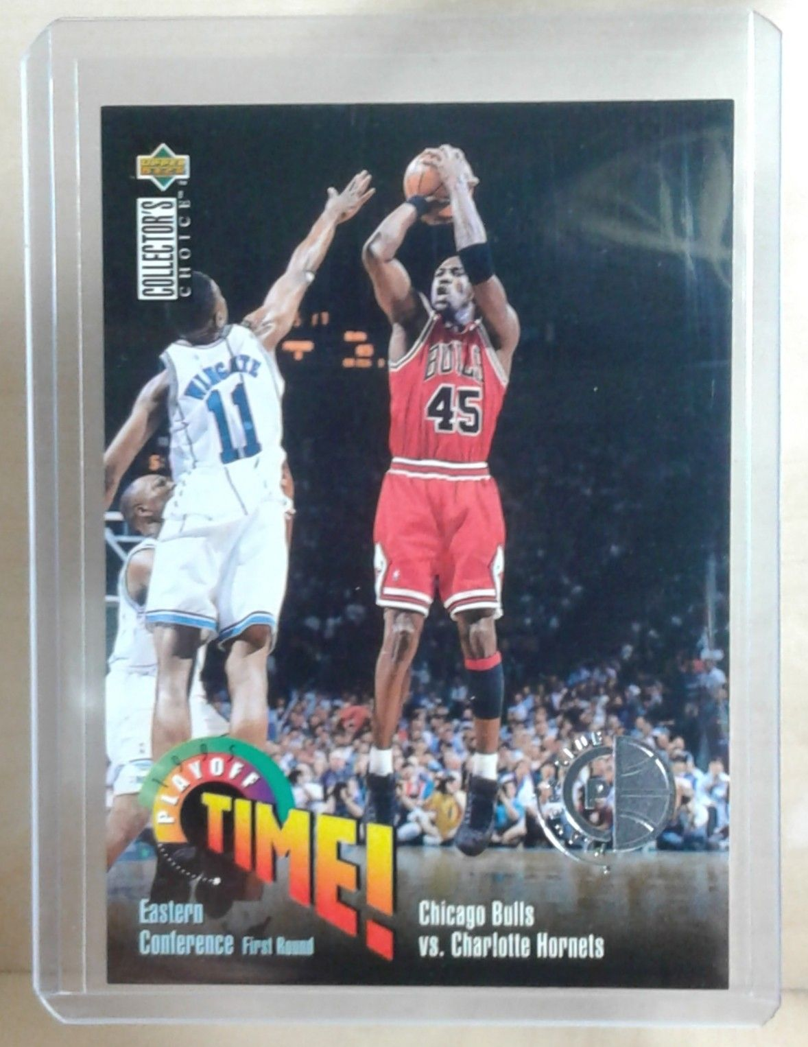 1995 ud collectors choice michael jordan pc playoff time