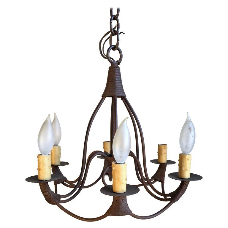 Small Bell Form Iron Chandelier 6 Candle Iron Chandeliers 6 Candles Chandelier Pendant Lights