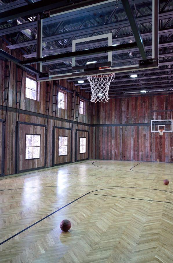 Old Barn Turned Into A Basketball Court Totally Cool Home Basketball Court Home Gym Design Basketball Court Backyard