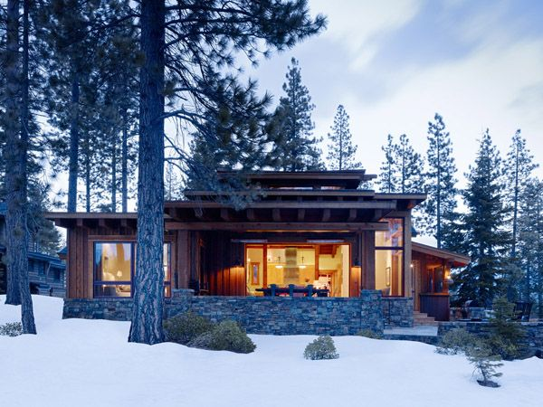 Delightful Modern Mountain Cabin Getaway In Picturesque Martis Camp Small House Swoon Log Cabin House Plans Modern Cabin