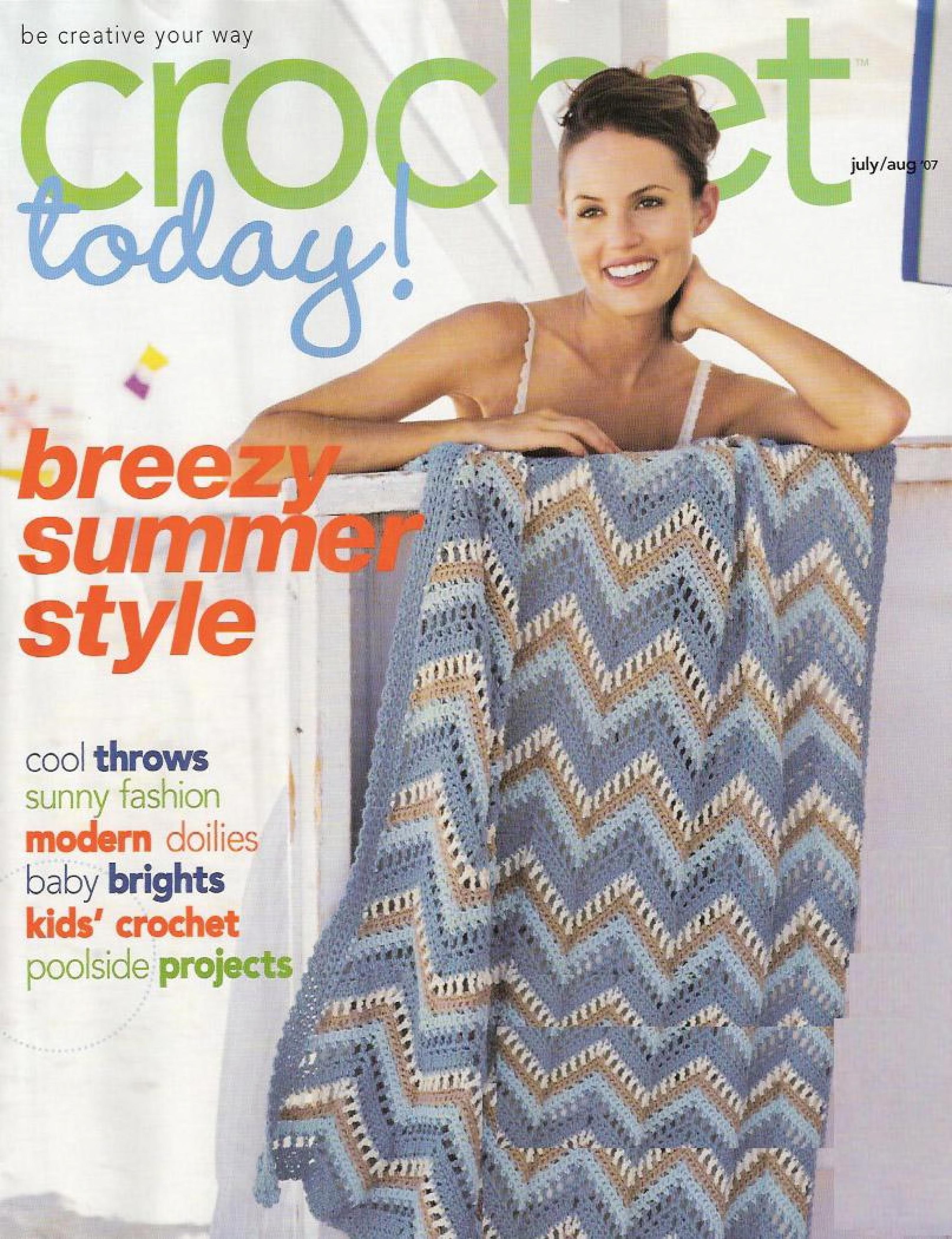 Crochet Today 2007-07: Crochet Today: Téléchargement, emprunt et streaming gratuits: Internet Archive   – Crochet patterns