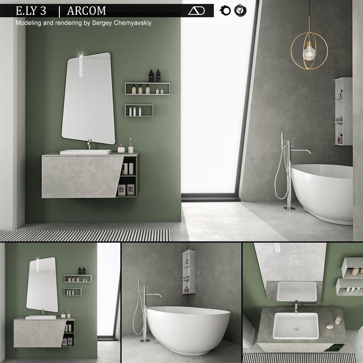 Bathroom furniture set Arcom e.Ly 3 #furniture, #Bathroom ...
