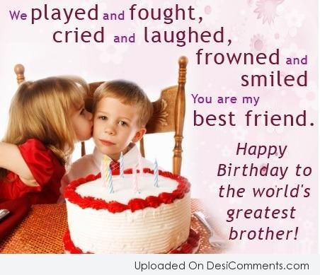 Picture Birthday Wishes For Brother From Sister
