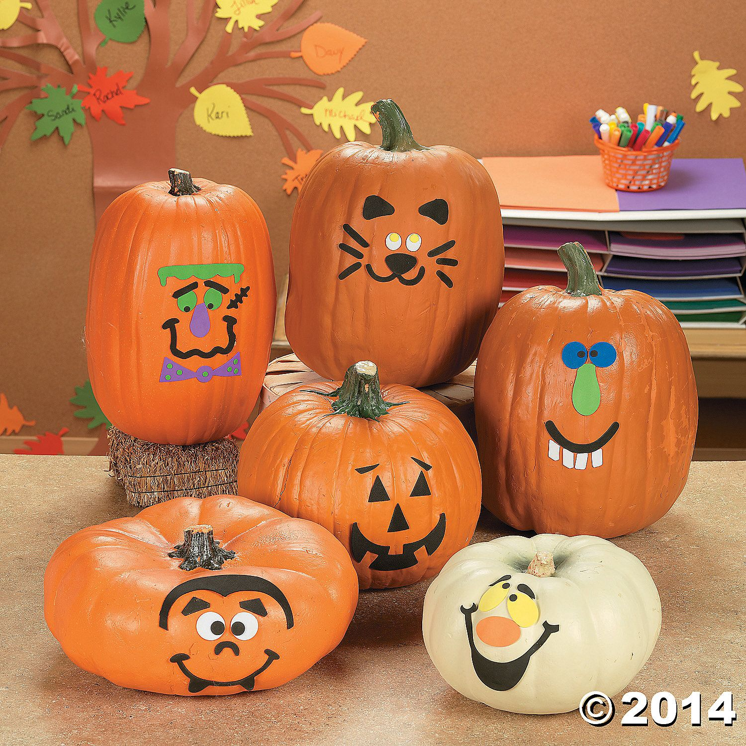 Pumpkin Face Stickers No Carve Decorating Carving Faces Gifts