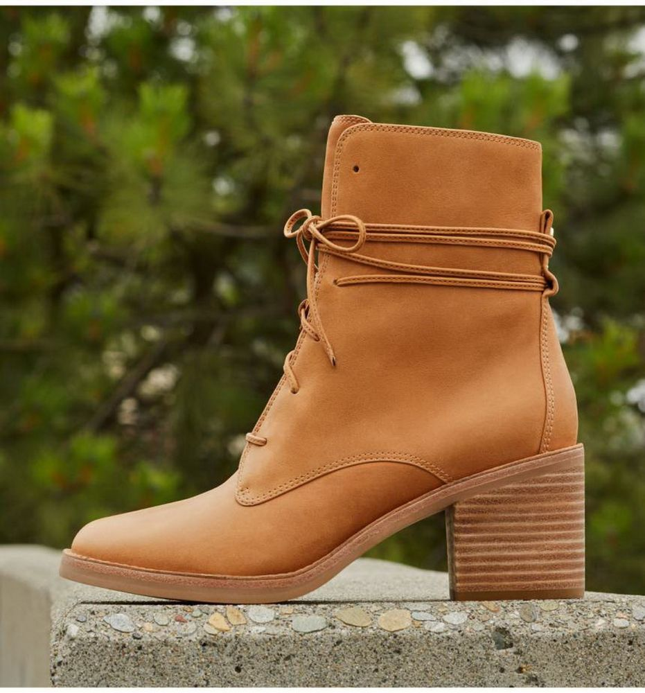 41e26c66a68 NEW UGG Australia Oriana Lace-Up Boot Shoes, HONEY LEATHER, US 7 M ...