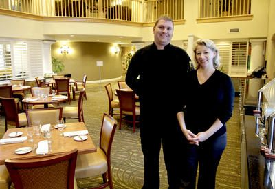 Chef Bryan Showalter And Food And Beverage Manager Eva Mcclure At Stonehouse Bar And Grill At Th Ehilton Santa Cruz Scotts Valley Grilling Stonehouse Bar Grill