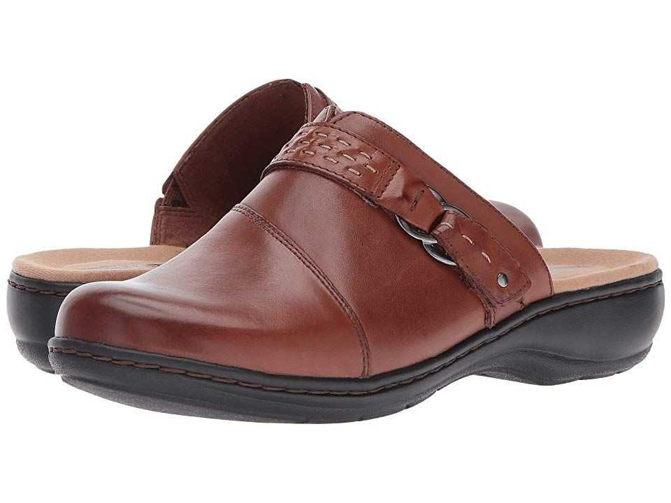 d0447af4883 Clarks Leisa Sadie (Dark Tan Leather) Women s Clog Shoes. The Leisa Sadie  is part of the Clarks Collection. Craft together the perfect look with the  Leisa ...