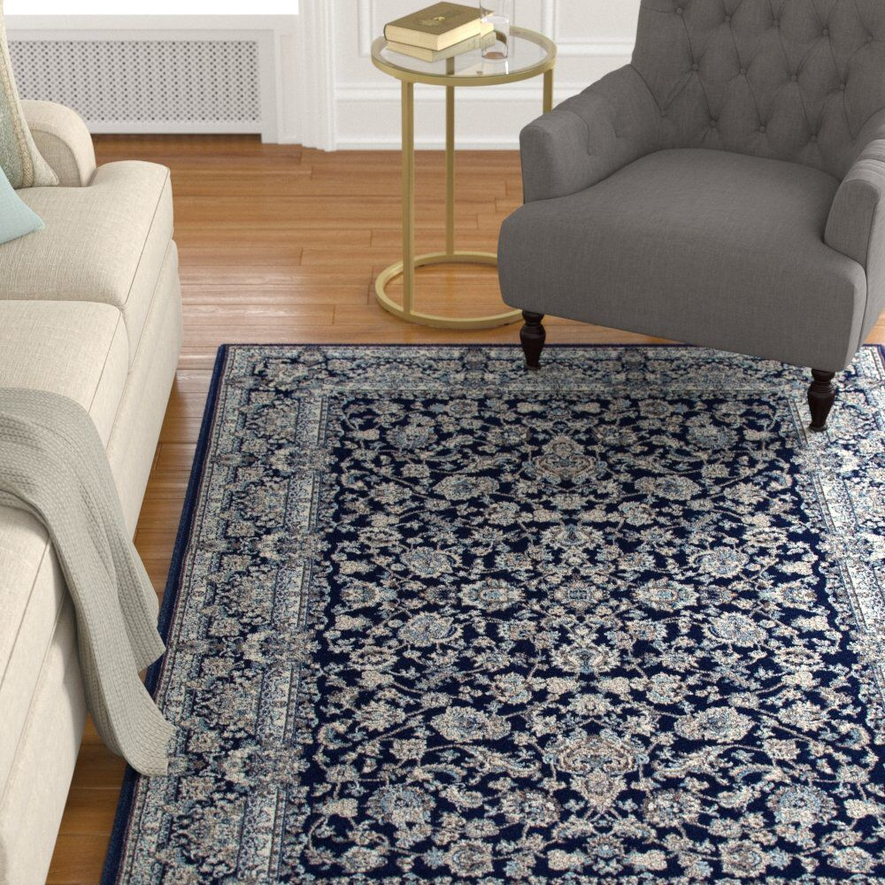 Lang Oriental Navy Blue Gray Tan Ivory Area Rug Area Rugs L
