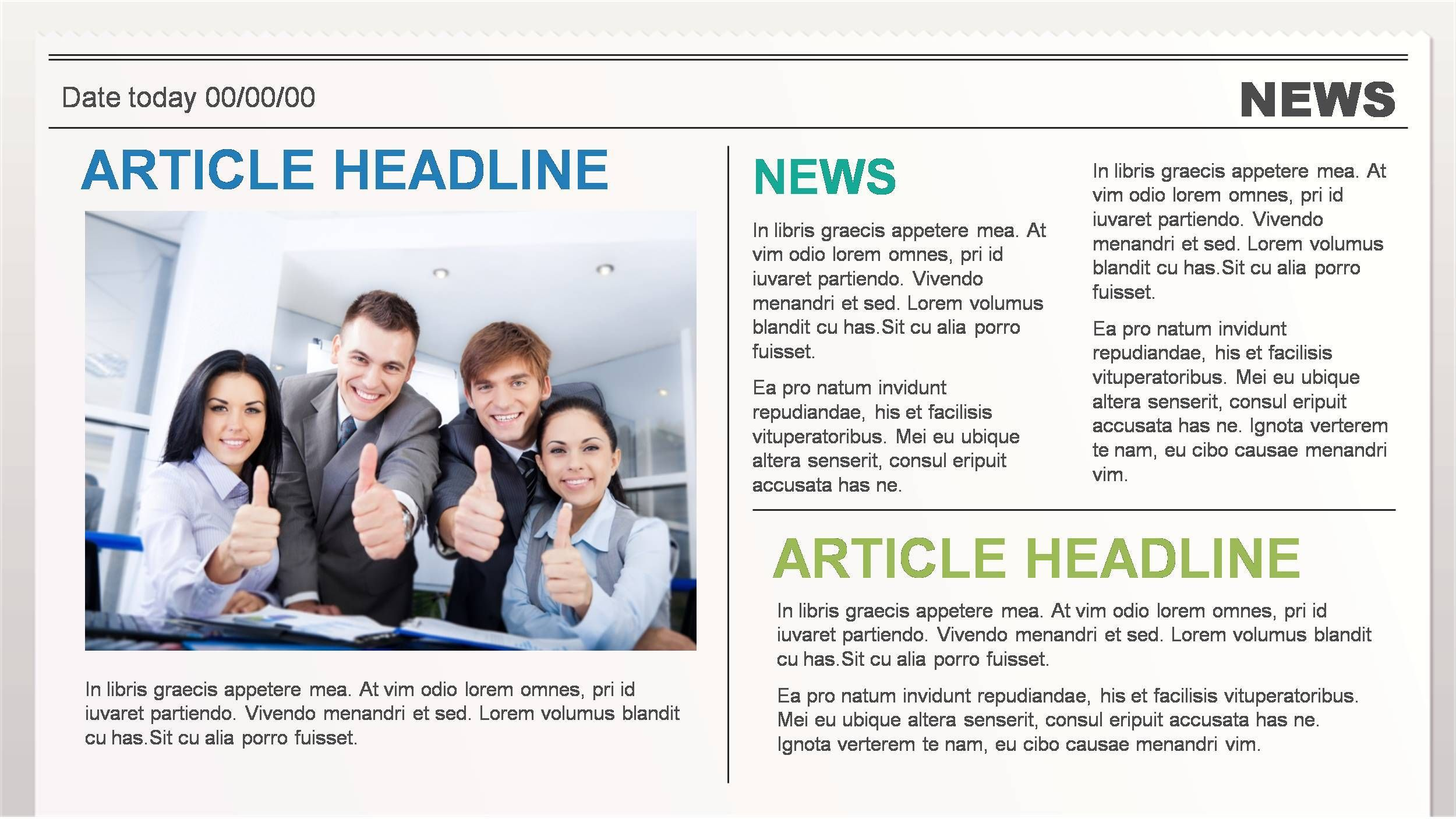 Business News Powerpoint Presentation Template Ad News Ad