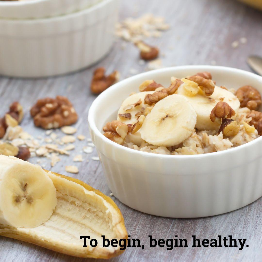 To begin, begin Healthy!