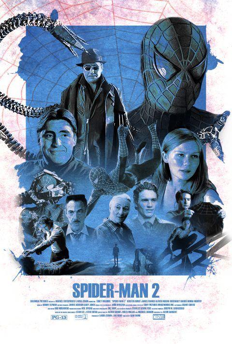 Vintage Spider-Man 2 (2004) Alternative Movie Poster - PosterSpy
