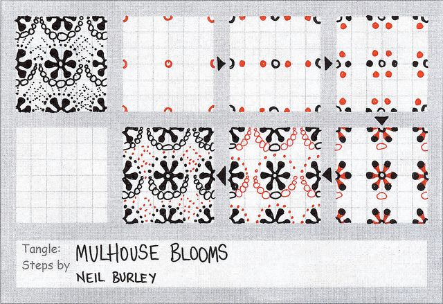 Mulhouse Blooms - tangle pattern by perfectly4med, via Flickr