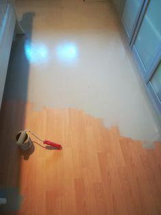 Fussboden Streichen Mit Kreidefarbe Misspompadour Laminat Streichen Kreidefarbe Laminat Boden Streichen