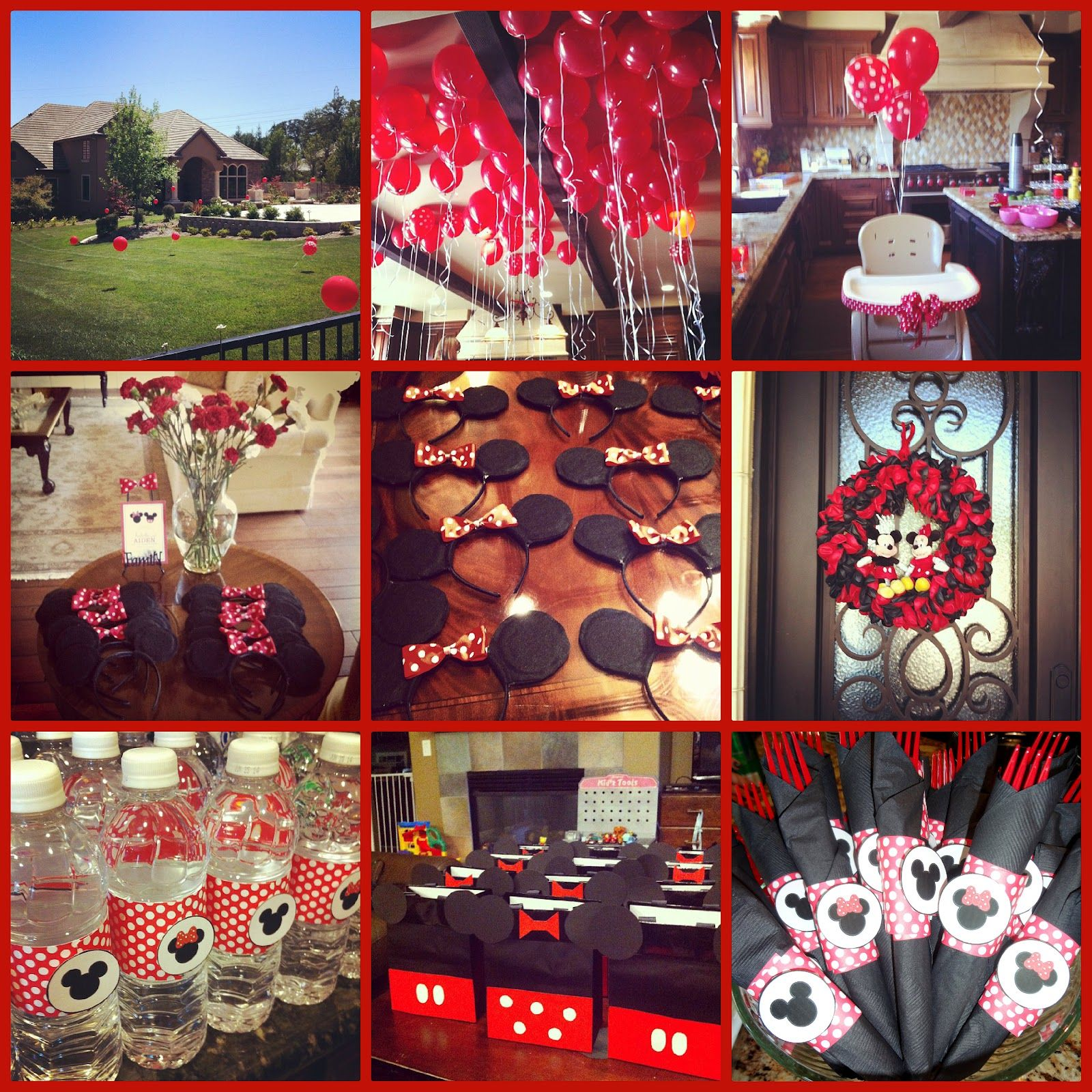 Twin Birthday Minnie Mickey party Cute idea for a couple years