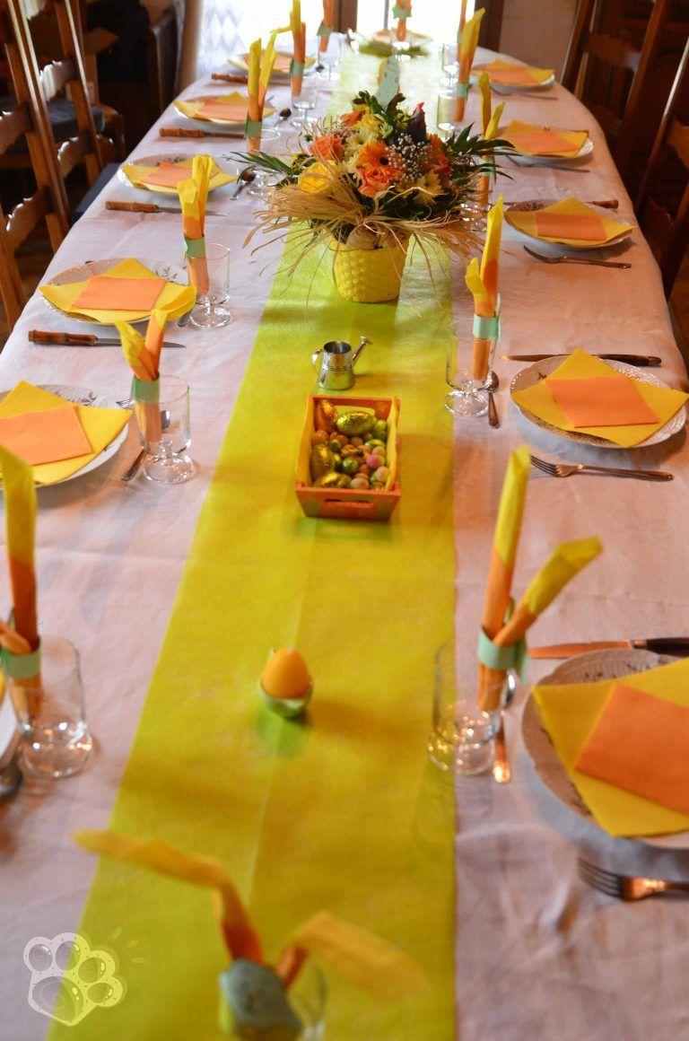 Deco Jaune Et Vert décoration de table : pâques en vert, jaune et orange