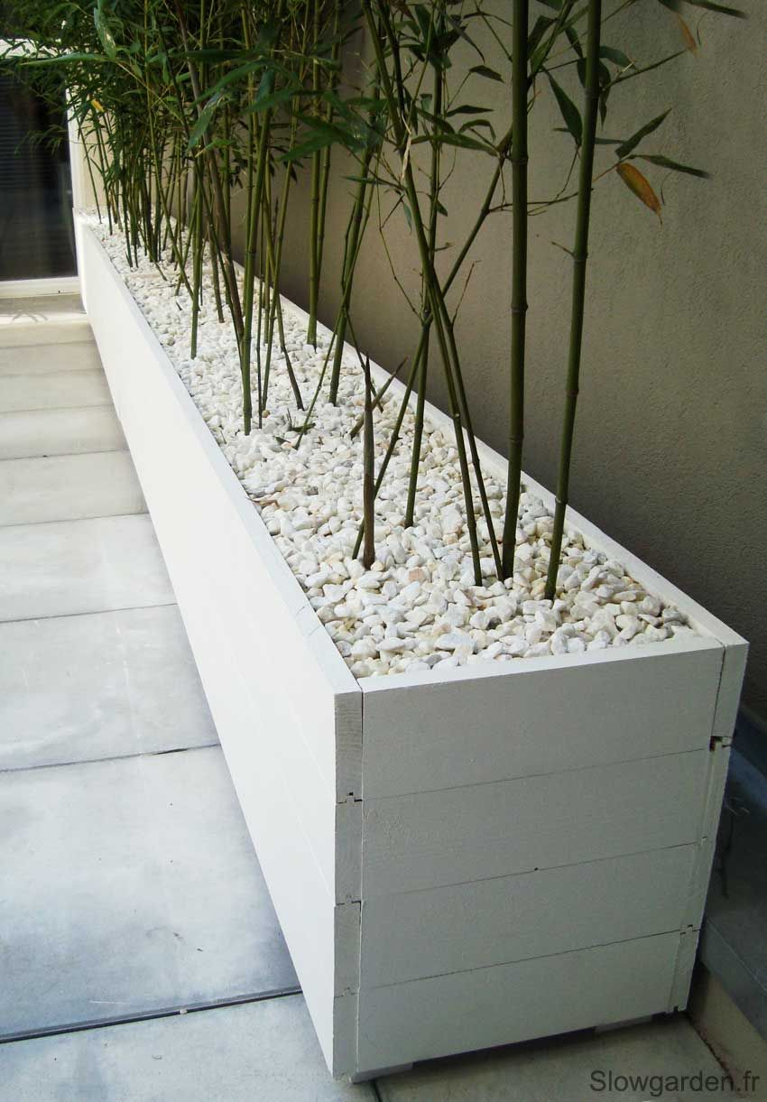 Bacs plantes bois sur mesure marseille diy pinterest for Plante design exterieur