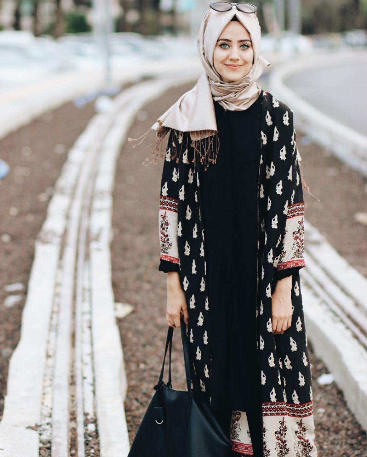 Pinterest @adarkurdish hijab style  Model pakaian hijab, Model