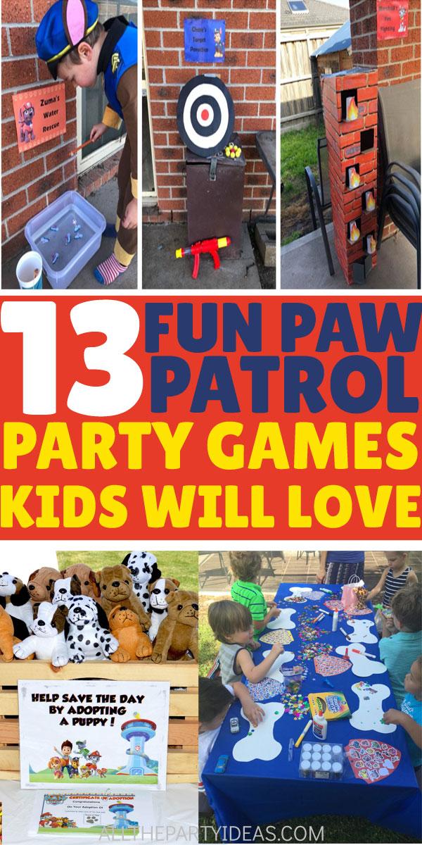 Photo of PAW PATROL PARTY GAMES für Kleinkinder und Kinder Geburtstage für Jungen und Mädchen. Fun D …
