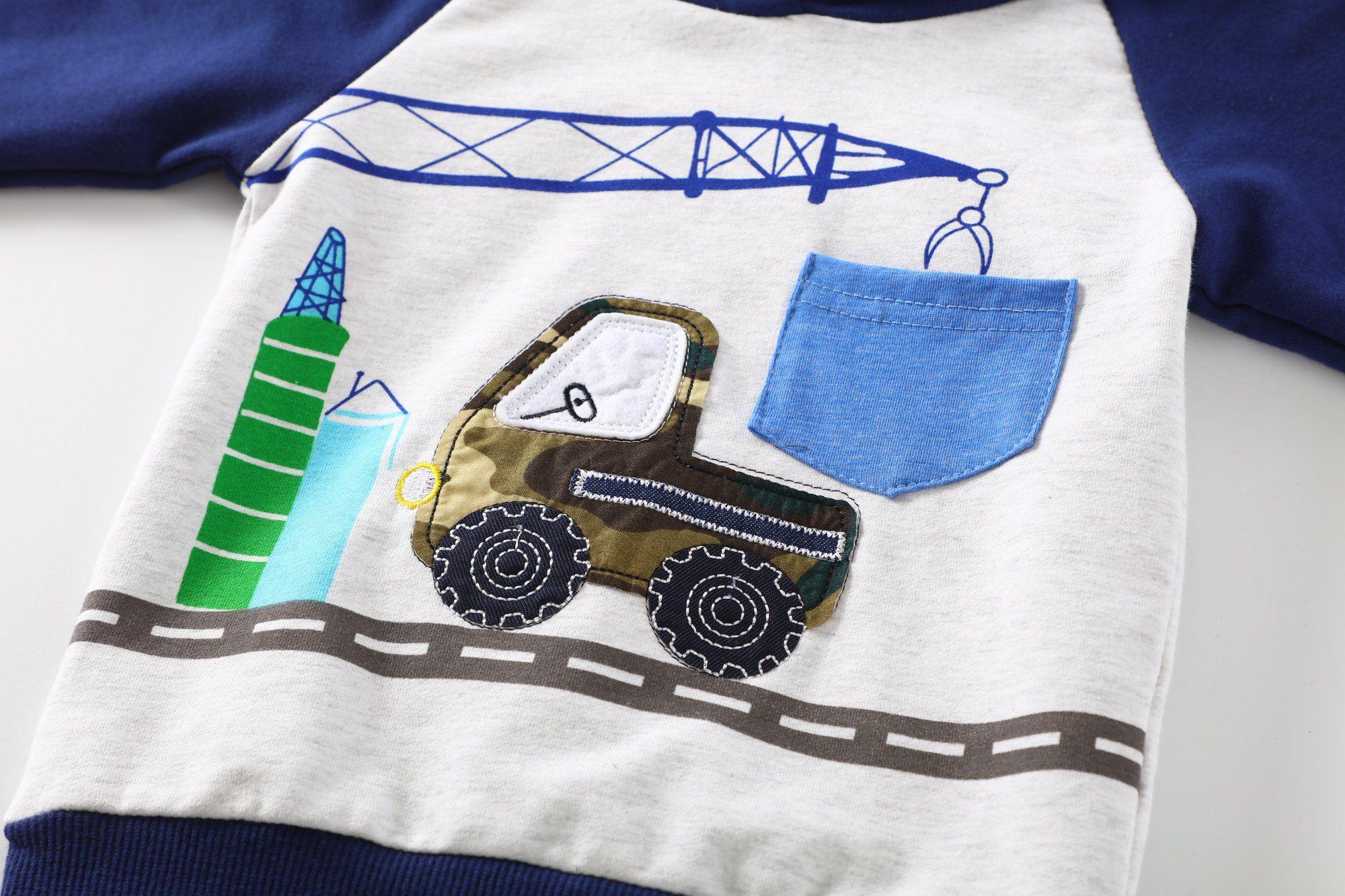 Baby Love Toddler Boys Clothes Outfit Truck Applique Hoodie Denim Jeans 2PCS Set