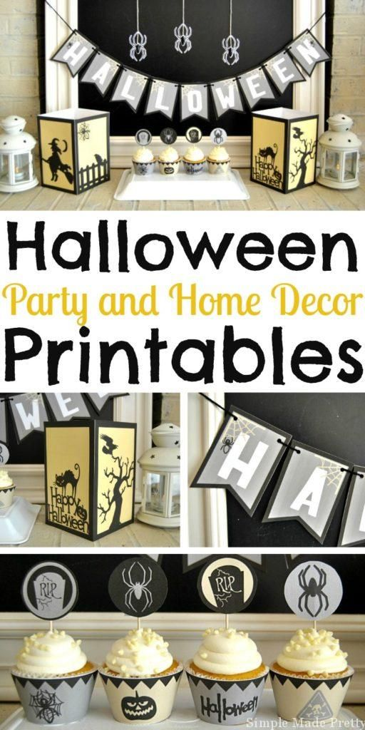 Halloween Party and Home Decor Printable Package Halloween - halloween movie ideas