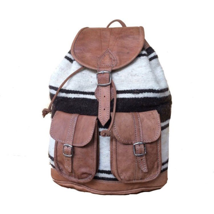 Lovely aged leather and wool make this backpack the one to have in these back to school days!