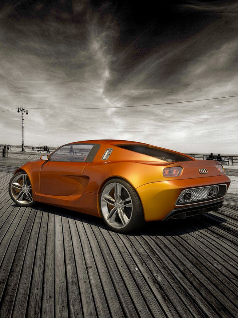♀ Orange concept car Audi OniX Concept by ~cipriany #vehicle #wheels