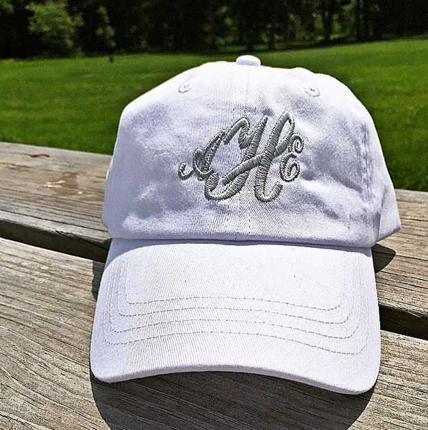 """it's time for another weekend giveaway! this time we will be giving away 5 custom monogram embroidered baseball hats to 5 lucky followers. *winners may pick their own thread color.  to enter just complete the following steps: 1. follow @marktapparel on Instagram. 2. """"like"""" this photo. earn additional entries by """"tagging"""" friends that may like to win these items!  the winners will be selected + notified this Monday, June 15th, 2015. GOOD LUCK!"""