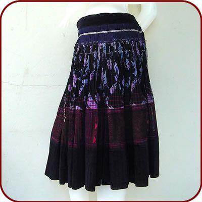 Tradition ethnic Hmong skirt / handmade embroidered