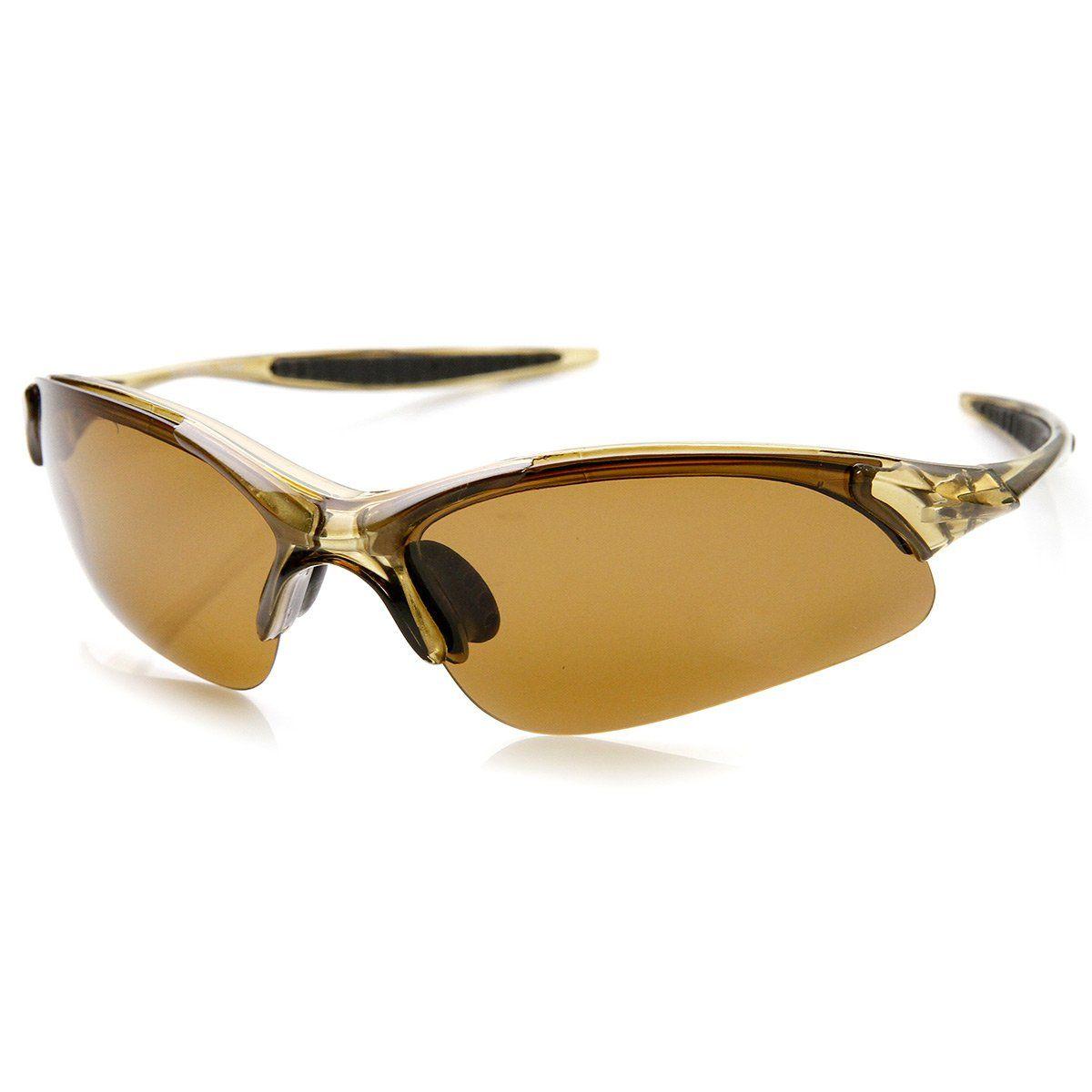 fca2b28f8f50d Lightweight Shatterproof TR90 Half Jacket Polarized Lens Sports Sunglasses