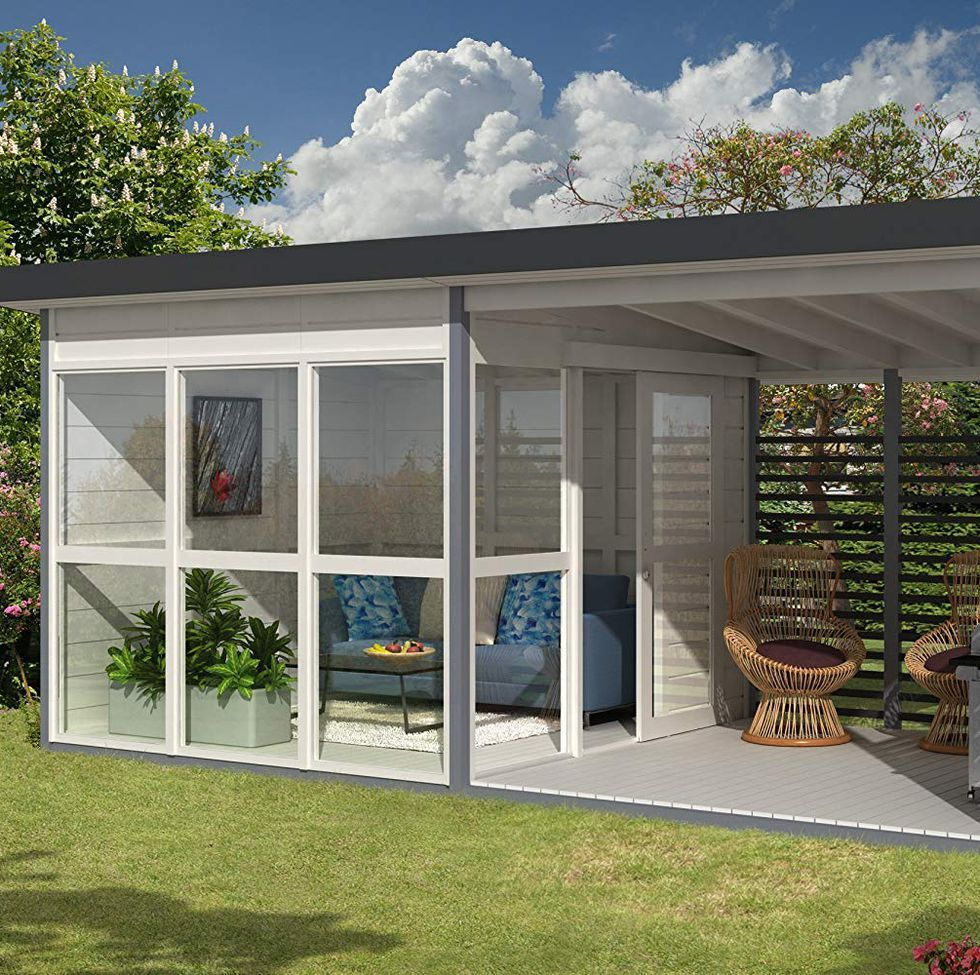Amazon S Insanely Popular Diy Backyard Guest House Is Back In Stock Backyard Guest Houses Backyard House Pre Fab Tiny House