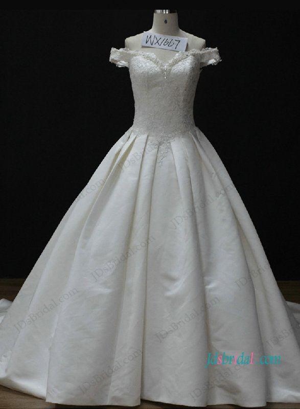 H1052 Off the shoulder Cinderella princess wedding ball gown dress ...