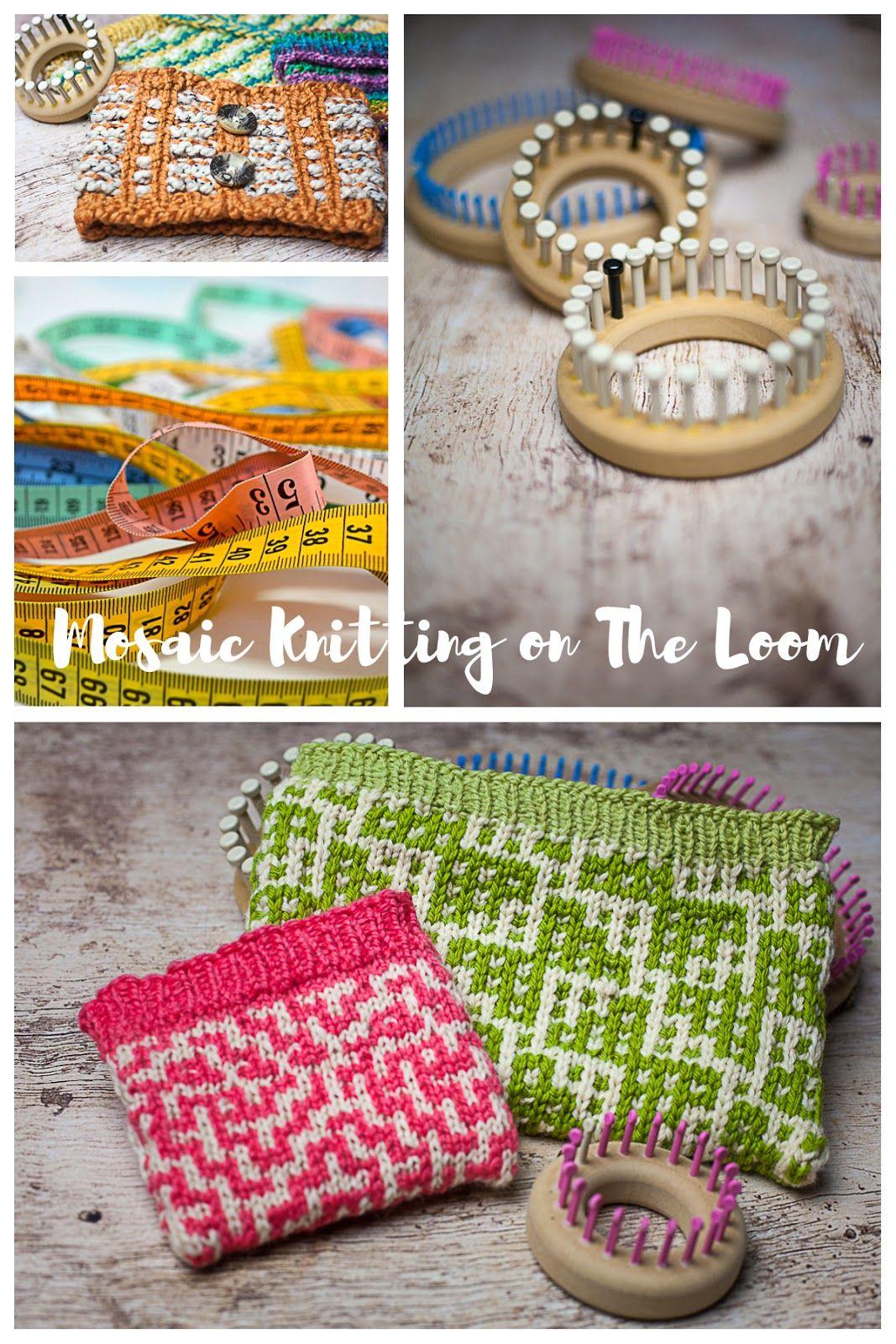 Mosaic Loom Knitting #loomknitting