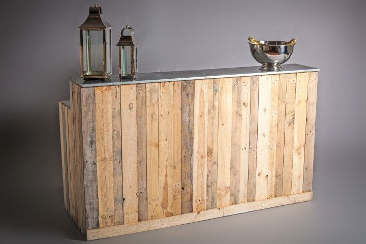 Bars - Zinc top Rustic bar - zinc top rustic bar 2m flipped (Small ...
