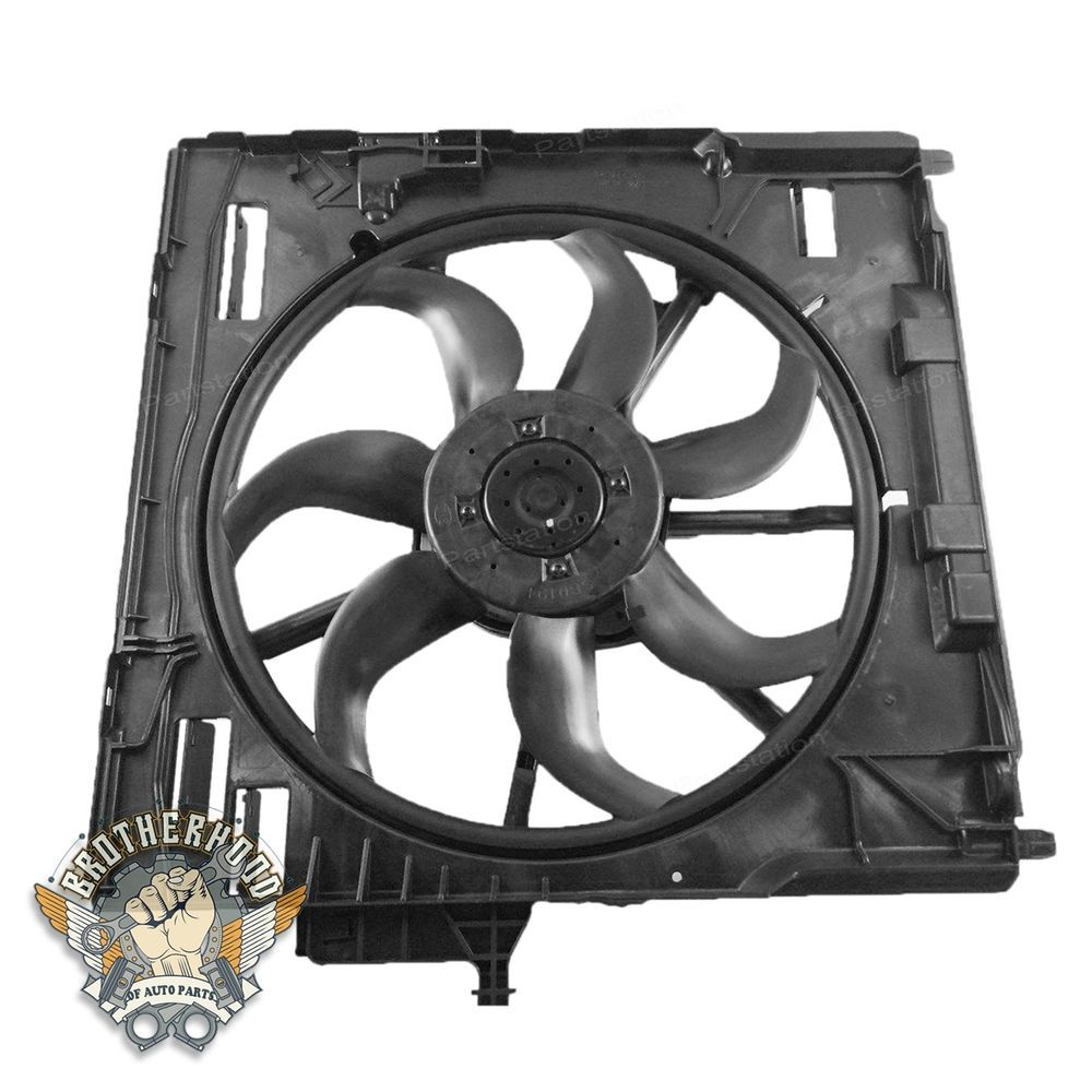 For Bmw E70 X5 Engine Radiator Cooling Motor Fan Front Topaz Blower Fit 07 11 New Assembly 17427598740