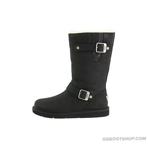 e11399ffe0d Famous Stunning Kensington S/N 5678 Leather Ugg Boots - Black Of ...