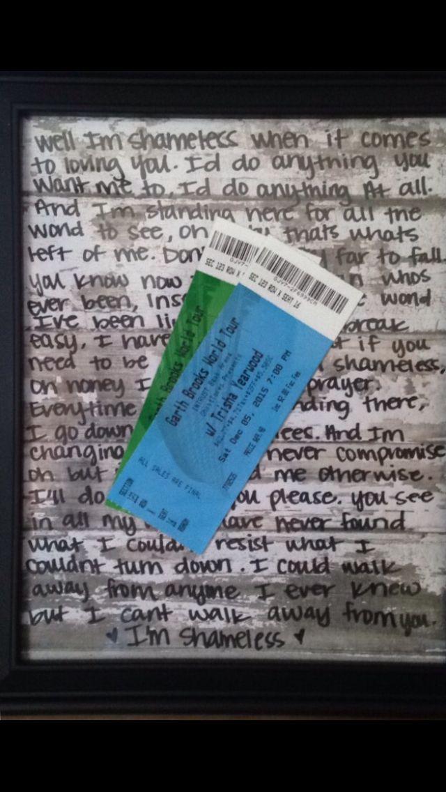 Surprise Concert Tickets Idea Gift Ideas Concert