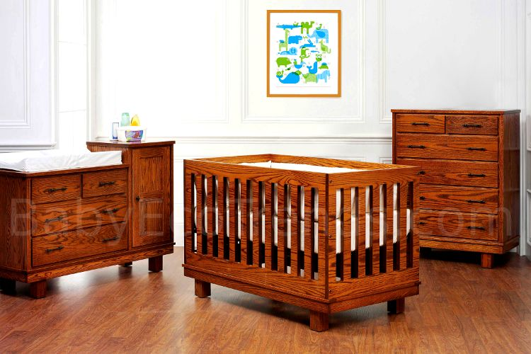 Discover Handmade Amish Nursery Furniture Sets Including Baby Cribs Toddler Beds Changing Tables Solid Wood Storage And Dressers