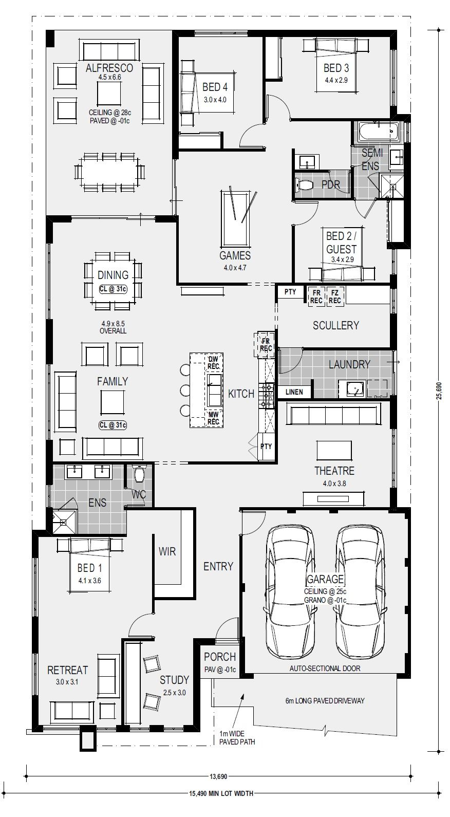 Floor Plans Of Indiana Designer Kitchen By Home Group Wa Floor Plans House Plans House Floor Plans