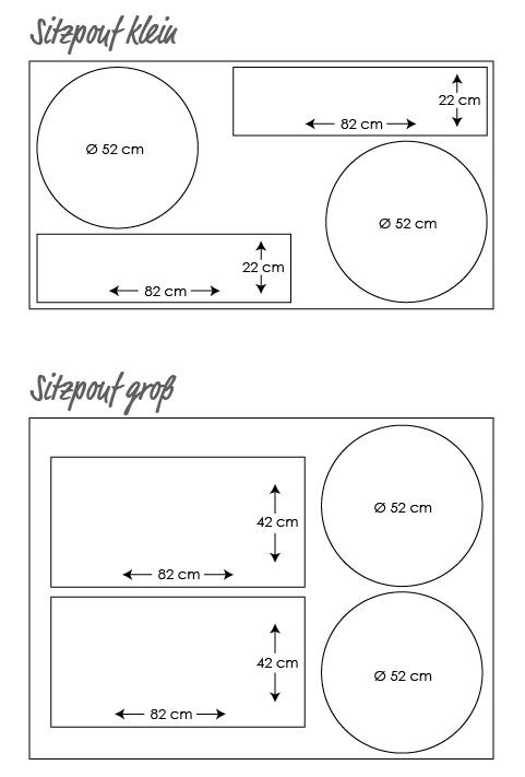 Instrucciones gratuitas: coser la funda para puf o cojín