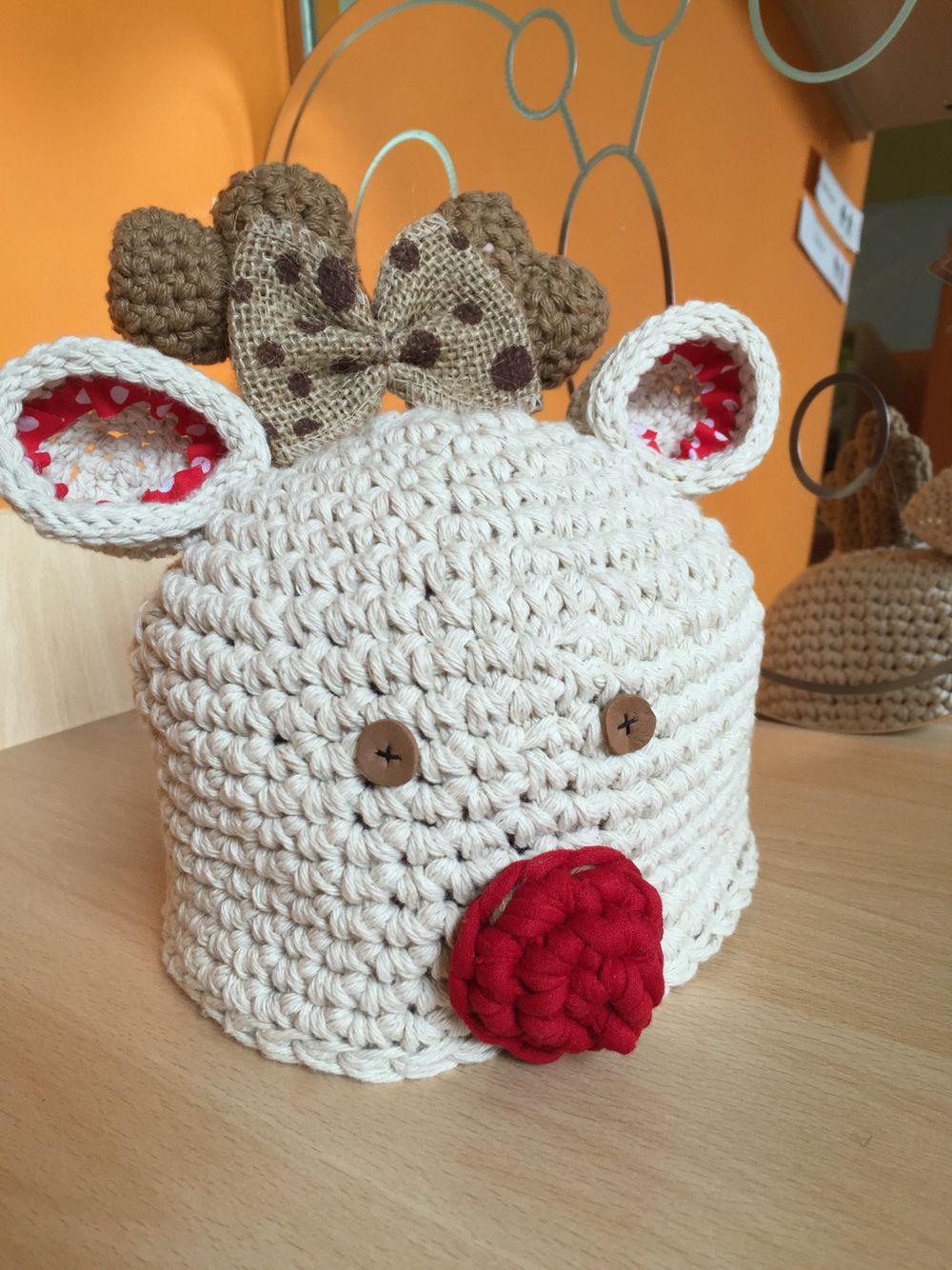 Gorrito ganchillo reno | Mis cositas rak and roll | Pinterest ...