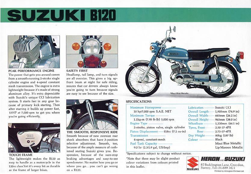 Suzuki B120 Suzuki Old Bikes Performance Engines